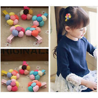 2pcs Colorful Kids Flower hairpins for Baby Cute Hair Clips Girls Hairpin