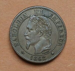 FRANCE. 2 CENTIMES 1862 A.