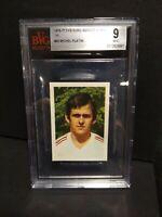 ⭐Michel Platini Sticker Nancy 76-77 FKS Euro Soccer Stars BVG 9 Mint