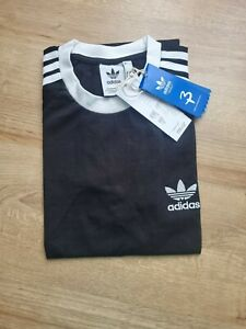 Free P&P Men's Adidas Originals 3 Stripes Tee Crew Neck Short Sleeve T-shirt
