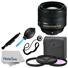 New Nikon Nikkor 85 mm F/1.8G AF-S Lens Complete Deluxe Accessory Kit