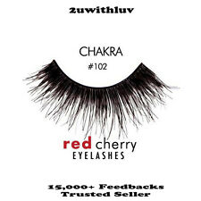 RED CHERRY 100% HUMAN HAIR BLACK FALSE EYE LASHES #102 AUTHENTIC