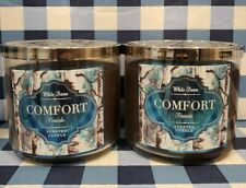 COMFORT Fireside 3 Wick Candle x2 Bath & Body Works White Barn