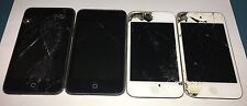 Lot of 4 Apple iPod Touch 4th/2nd Generation - Fair Condition - For Parts/Repair