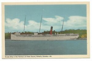 Grey County OWEN SOUND ONTARIO Cruise Ship in the Harbour