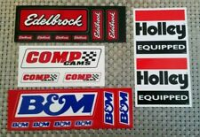 EDELBROCK HOLLEY B&M COMP CAMS racing decals stickers FREE SHIPPING drags offroa