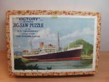 Victory plywood Jig-saw Puzzle – M.V. Rangitoto through Panama Canal c1960