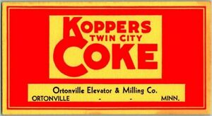 "Ortonville, Minnesota Advertising Ink Blotter Card ""KOPPERS TWIN CITY COKE"" Coal"