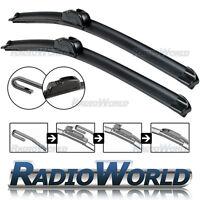 "U-Hook Aero Front Window / Windscreen Car Wiper Blade 23"" 21"" Pair Upgrade"