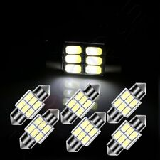 6X White 1.22 inch/31mm 6SMD-5630 Car Interior Festoon LED Lights For Dome Map