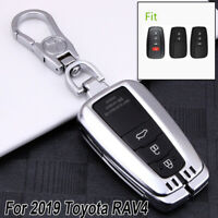 For Toyota RAV4 2019 Car Smart Key Case Cover Holder Keychain Tags Protection