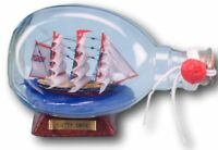 Cutty Sark model in glass dimple bottle