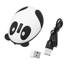 2.4G Wireless Rechargeable Optical Panda Cordless Mouse Receiver For Computer PC