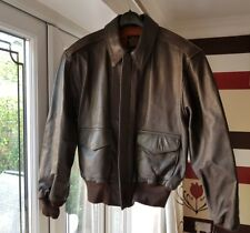 Vintage Avirex Leather Jacket 'TYPE A-2' Size 44 - NWT