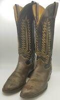 Tony Lama Western Homme Ceinture en cuir Made in the USA conique en relief Tan C42404