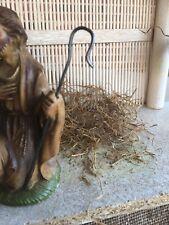 "Replacement Metal Shepherd Hook , Fits a 4"" Tall Vintage Joseph Nativity Figure"