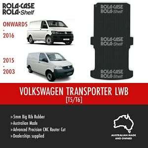 Volkswagen Transporter LWB Genuine Big Rib Rubber Cargo Van Flooring 5mm CNC Cut