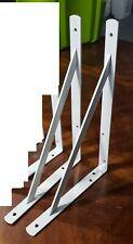2 New John Sterling THE MAX BRACKET Shelf Brackets, White, 0049-16WT