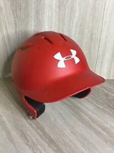 Under Armour Baseball Batting Helmet Red - Size 6 1/2-7 1/2 UABH2-100 Youth $45
