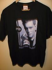 Michael Buble Tee - Vintage Buble Microphone Crooner Concert Tour T Shirt Medium