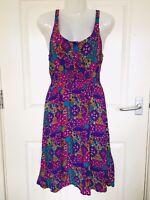 Izabel London Printed Midi Dress Size S 8 Floaty Holiday Summer Dress