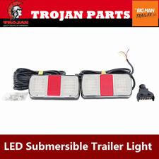 Trojan LED Trailer Light 9m Cable 7 Pin Flat Plug Multi Volt 12V 24V 371051