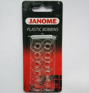 Plastic Bobbins x10 in Packet for All Janome Home Use Model 200122005