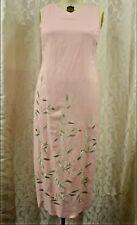 NEW Plaze South PINK long DRESS size 14 summer SPRING sleeveless Floral Women