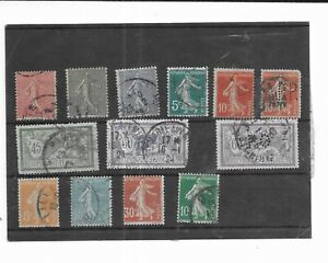 FRANCE 1903-1922. SELECTION OF 13. USED. AS PER SCAN