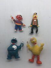 Sesame Street PVC Plastic Figures Cookie Bert Ernie Top Hats Canes Cake Topper