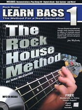 The Rock House Method Learn Bass 1 Beginner Bass Guitar Lessons Book CD Pack NEW