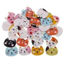 50pcs Boutons Pression Chat Vêtements Meuble en Bois DIY Support Tapisserie
