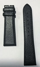 Original Movado Black Leather Band Strap for Mens Museum Watch 0607012, 0607013
