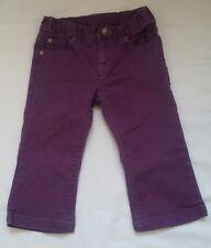 "VGUC Infant Girls ""PUMPKIN PATCH"" Purple Denim Bell Bottom Jeans Size 12-18M"