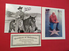 JOHN HART SIGNED COWBOY WESTERN PHOTO STAGE TO BLUE RIVER & HOLLYWOOD STAR PHOTO
