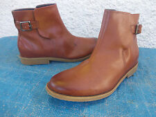 H&M TAN BROWN FAUX LEATHER BUCKLE ANKLE BOOTS SZ 43/11 MENS 9 BNWOT