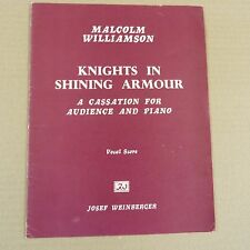vocal score MALCOLM WILLIAMSON Knights in shining Armour, incl. dedication + sig