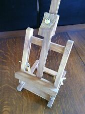 Small Solid Tabletop Studio Easel Hard Wood Artist Display Artwork Prints Signs