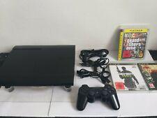 PS3 Sony PlayStation 3 Super Slim 500GB Konsole CECH-4204C +HDMI +3Spiele   #
