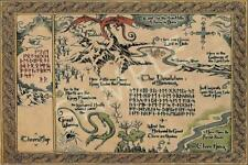 Best Middle Earth Map the Lord of the Rings Poster Vintage Poster 11x17 16x24