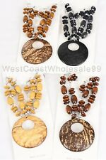 8 PC Coconut Shell Fashion Necklace & Earring Sets Jewelry Wholesale Lot 4 Sets