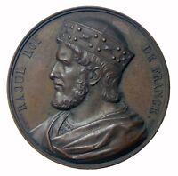 1839 France King Rudolf AE Medal By Armand Caque 51mm