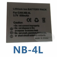 New Battery Pack For Canon NB-4L Digital IXUS 70 75 80 i7 zoom 110 IS