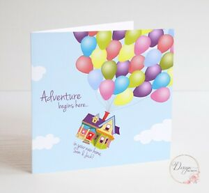 DISNEY'S UP! Paradise Falls NEW HOME CARD - personalised