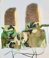 NEW US ARMY Military Surplus Woodland Camo ECWS Arctic Cold Weather Mitten Set