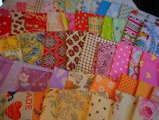 "Scrap Cotton Fabrics 11""x 9"" For Mask/Crafts, Bright Pastels, 10 pc."