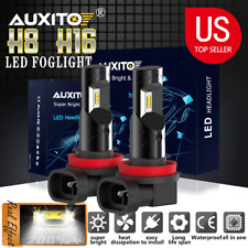auxito 2x H8 H11 H9 6000K White 100W High Power LED Fog Light Driving Bulb DRL