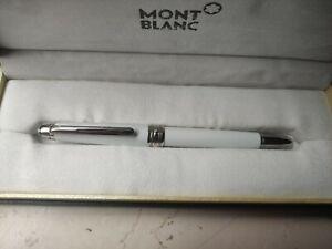 Penna Montblanc Meisterstuck 163 Bianca e argento Nuova con confezione completa