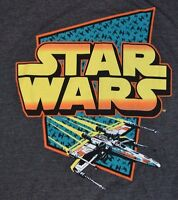 Star Wars Logo Style T-Shirt Officially Licensed Graphic Tee Men By MAD ENGINE