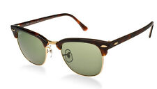 NEW Original RAY-BAN CLUBMASTER Tortoise Green G-15 Sunglass RB 3016 W0366 51 MM